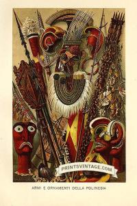 Polynesian ornaments - Armi e ornamenti della Polinesia