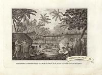Representation of a human sacrifice in a Morai at Tahiti