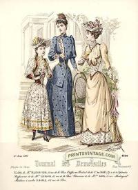 Elegant ladies and girl - Double sized print